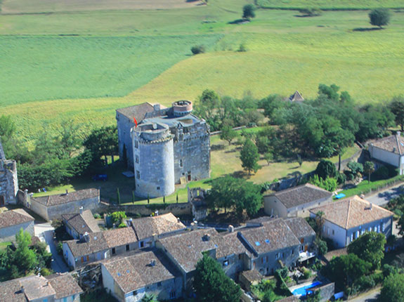 Château vue du ciel